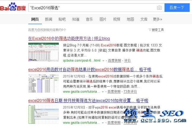 搜索引擎的高级搜索指令以及使用说明